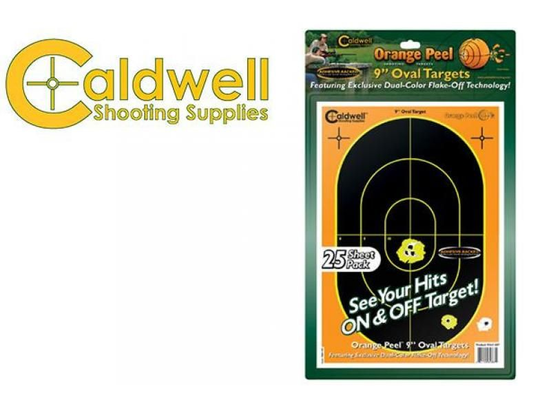 Aktívne papierové terče Caldwell oválne 5 ks