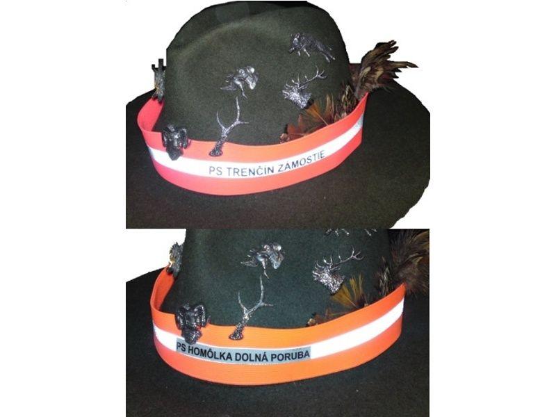 Pásik na klobúk s reflexným prúžkom