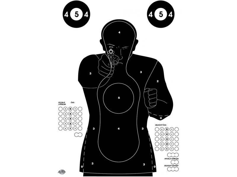 Terč FBI - čierny