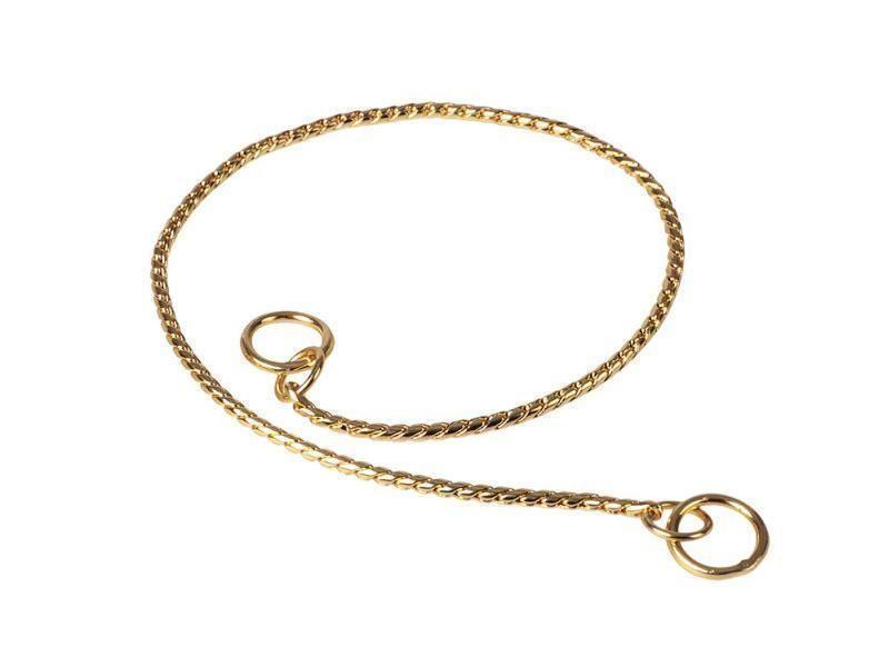 Obojok retiazkový DeLuxe zlatý 30 cm