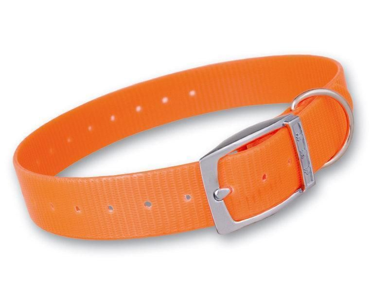 Plastový obojok oranžový 25 mm x  55 cm
