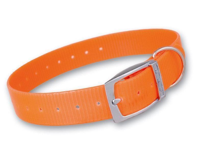 Plastový obojok oranžový 25 mm x  70 cm