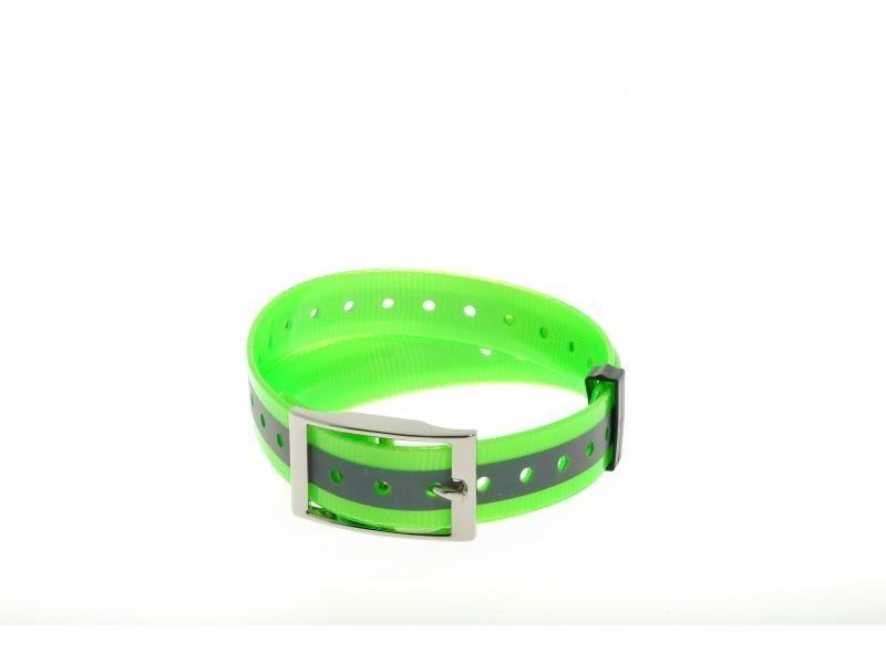 Plastový obojok zelený reflex. 25 mm x 70 cm
