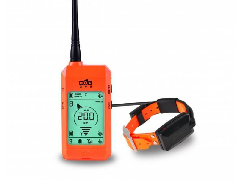 Satelitný GPS lokátor Dogtrace DOG GPS X23 sada pre tri psy - Oranžový