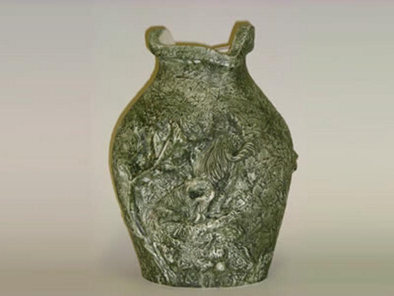 Zelená váza veľká diviak