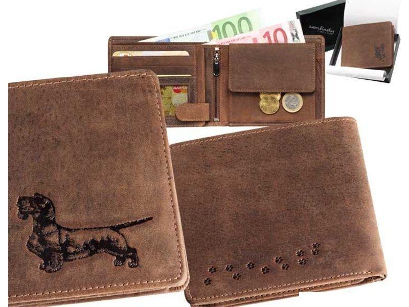 Kožená peňaženka jazvečík 4 ležatá