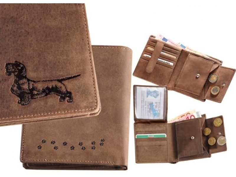 Kožená peňaženka jazvečík 4 vysoká