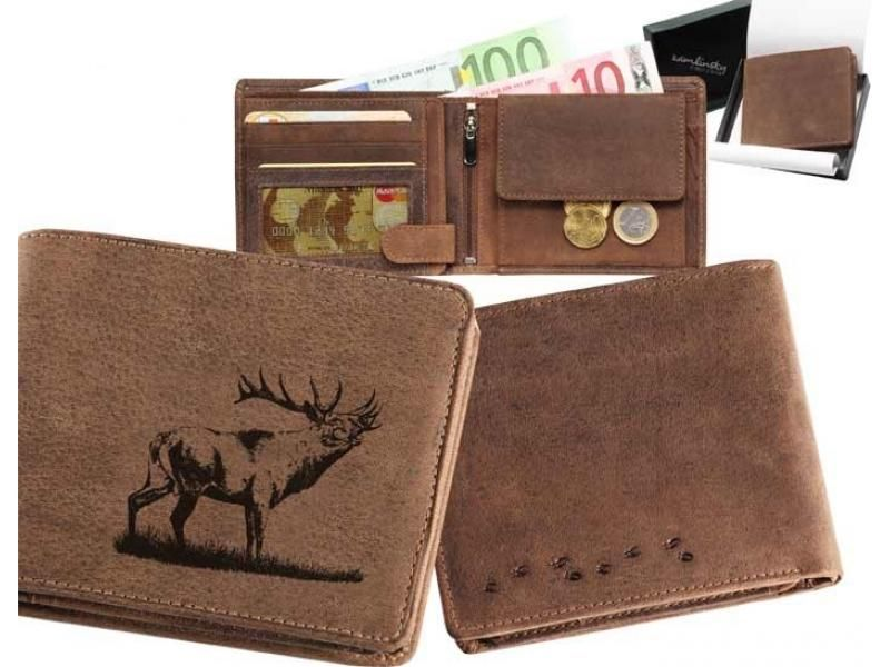 Kožená peňaženka jeleň 14 ležatá