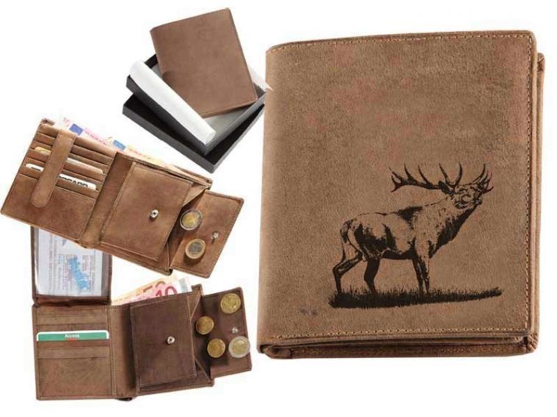 Kožená peňaženka jeleň 14 vysoká