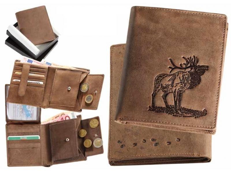 Kožená peňaženka jeleň v ruji vysoká