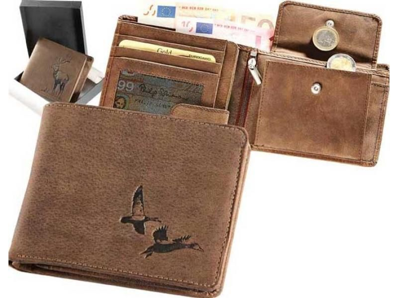Kožená peňaženka kačice ležatá