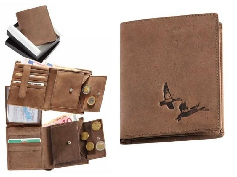 Kožená peňaženka kačice vysoká