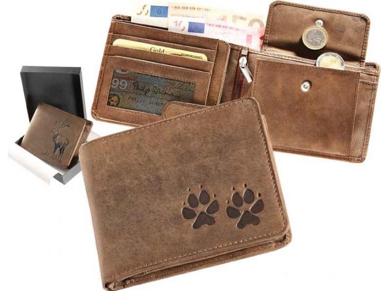 Kožená peňaženka packy ležatá