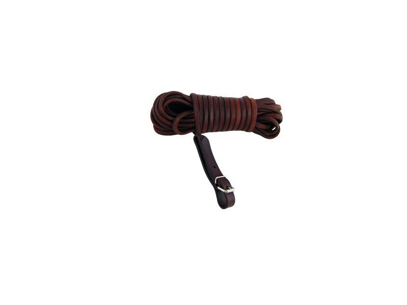 Farbiarska šnúra guľatá 6x10mm ukončená klas.zap.alebo karab