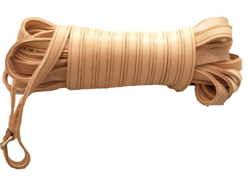Farbiarska šnúra plochá široká 20mm - ukončenie klas.zap.