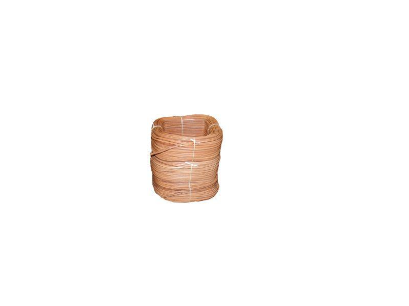 Metráž guľatá/oválna koža - prírodná koža priemer 4mm