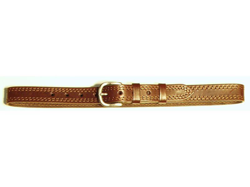 Opasok kožený 3 cm   - 2x prešitý
