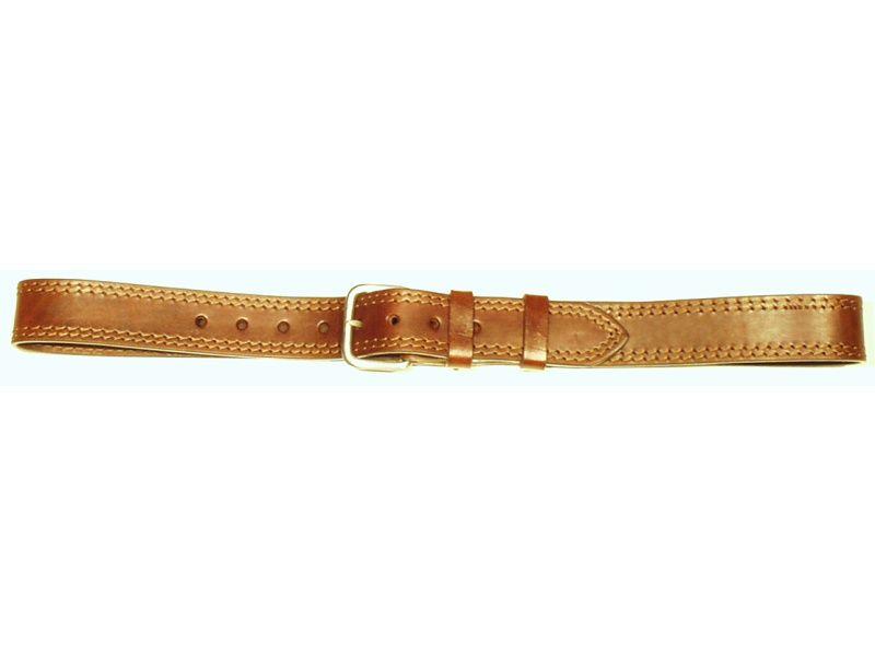 Opasok kožený 4 cm   - 2x prešitý