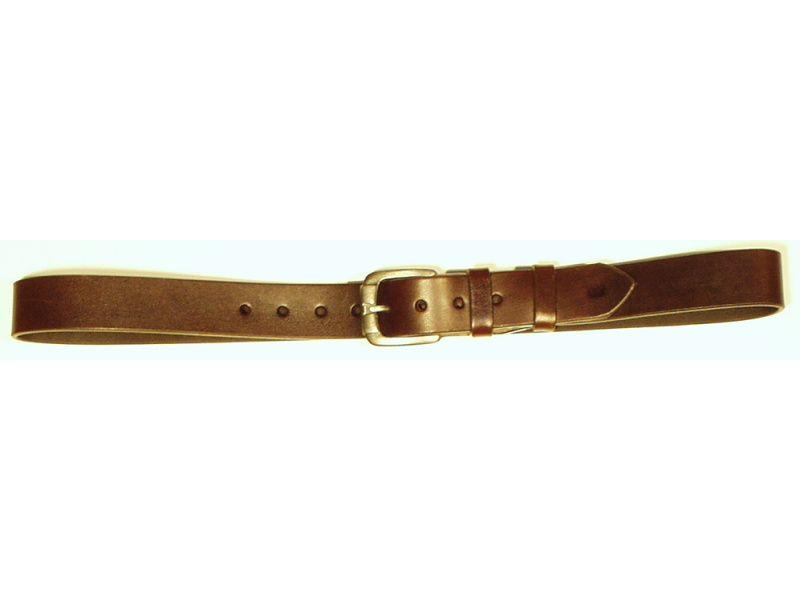 Opasok kožený 4 cm   - hladký