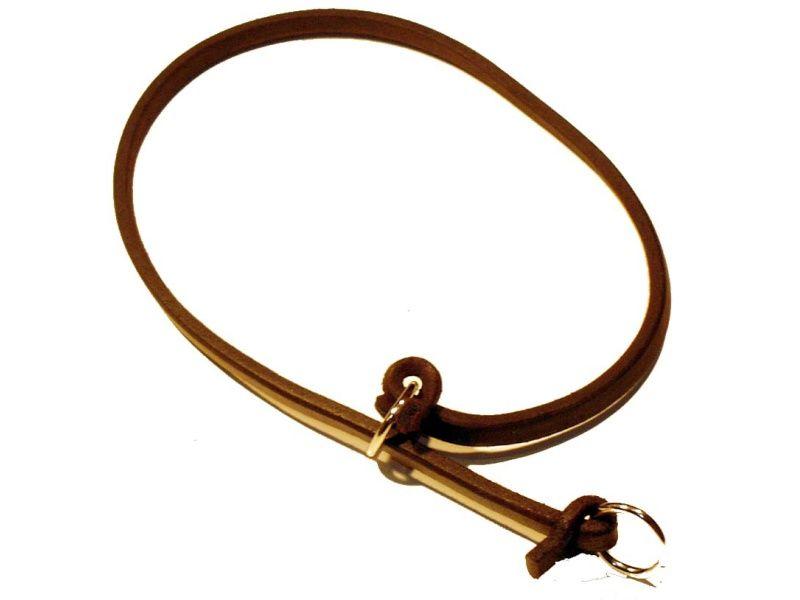 Sťahovací obojok z guľatej kože - dĺžka 65cm