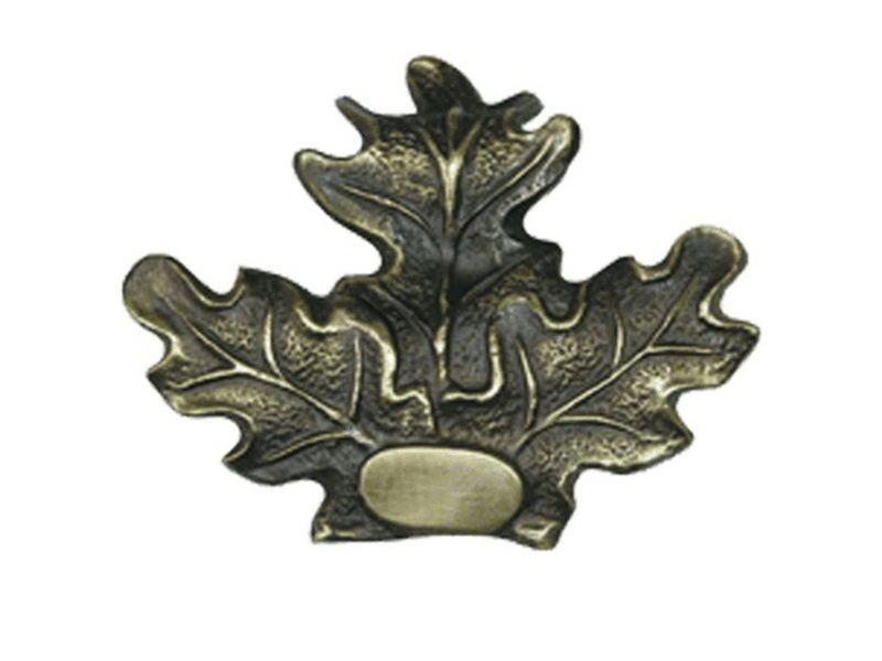Bronzové dubové lístie