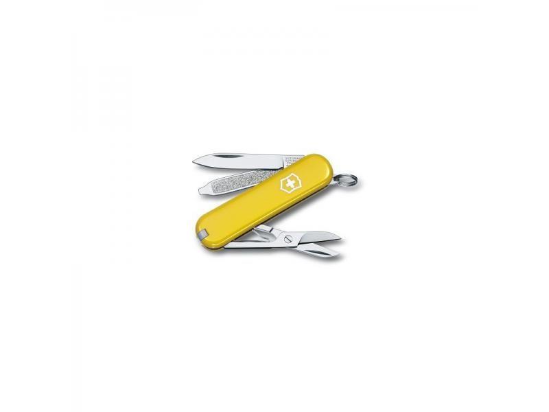 Vreckový nôž Victorinox Classic - 7 funkcií žltý