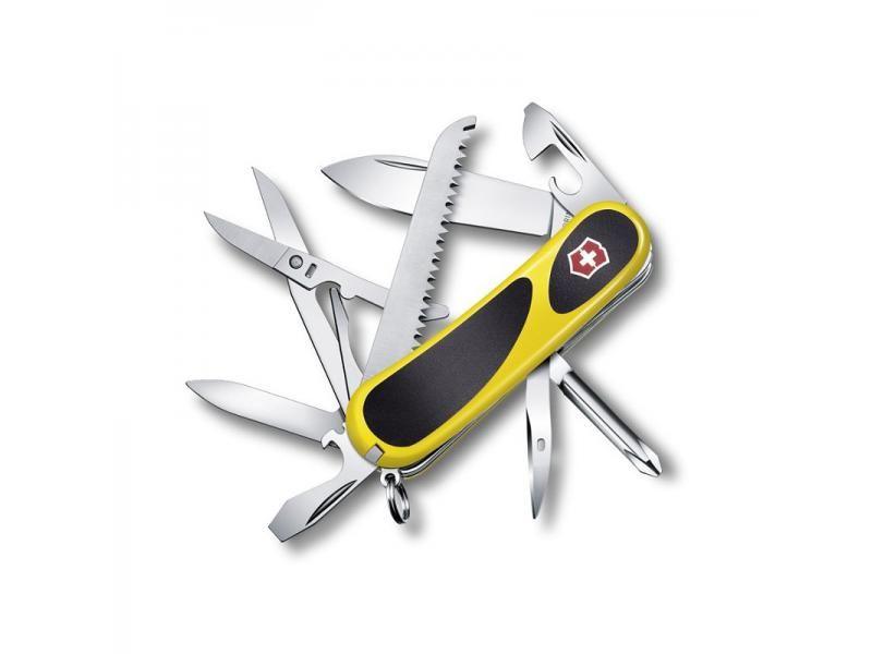 Vreckový nôž Victorinox Evogrip 18 - 15 funkcií žltý