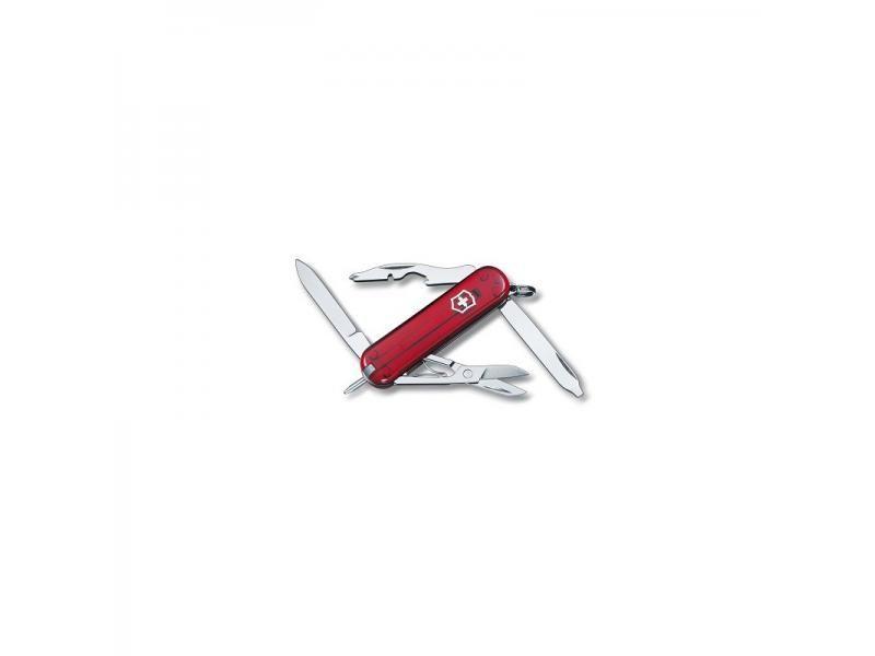 Vreckový nôž Victorinox Manager Ruby - 10 funkcií červený priehľadný