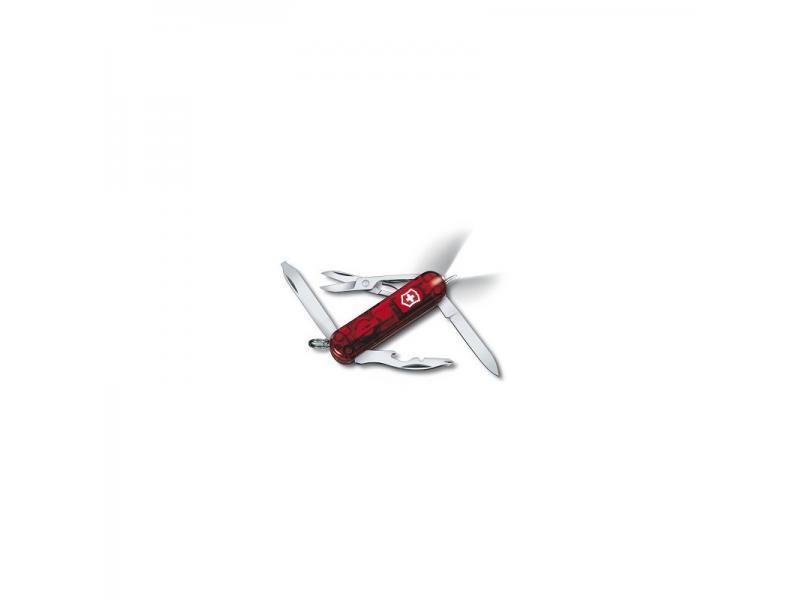Vreckový nôž Victorinox Midnite Manager Ruby - 10 funkcií červený priehľadný