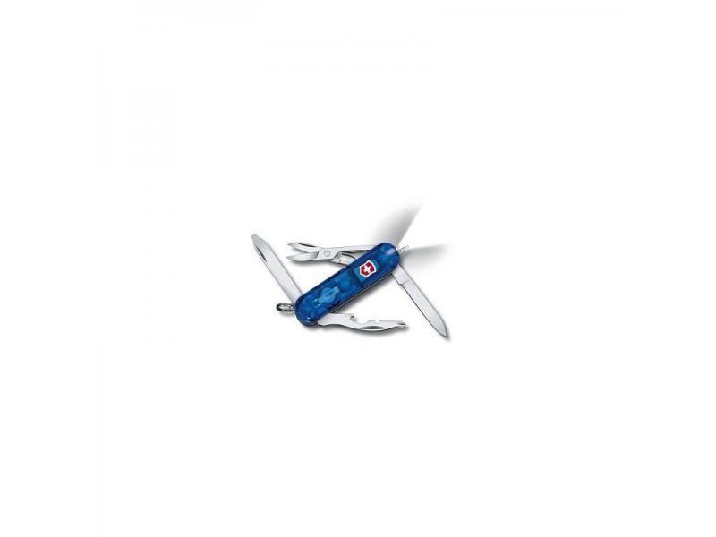 Vreckový nôž Victorinox Midnite Manager Sapphire - 10 funkcií modrý priehľadný