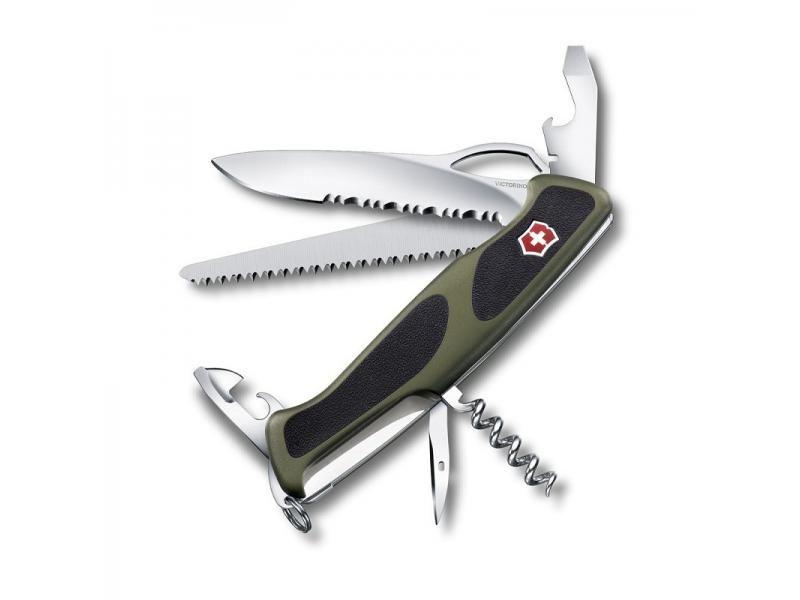 Vreckový nôž Victorinox Rangergrip 179 - 12 funkcií zelený