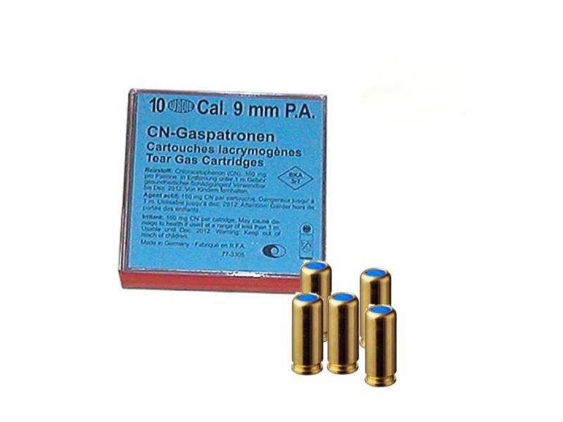 Plynové náboje CN pištoľ Wadie 9 mm 160 mg