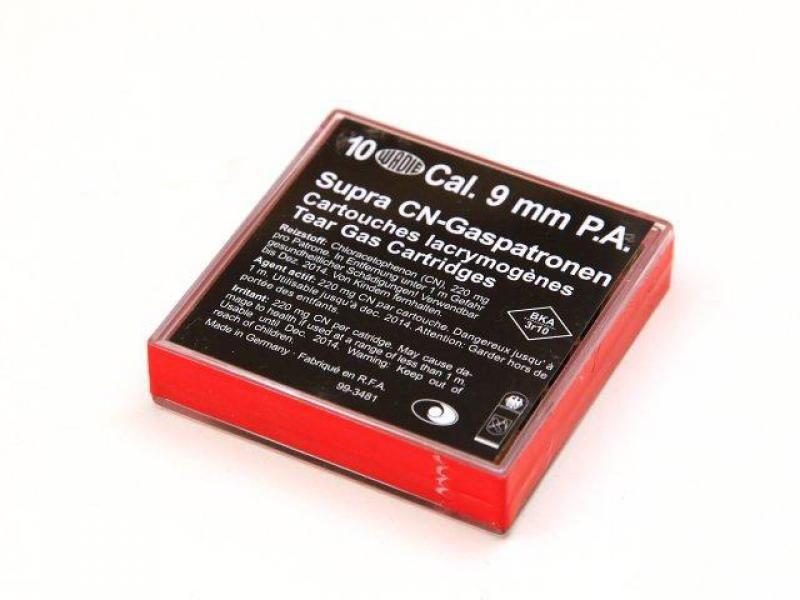 Plynové náboje CN pištoľ Wadie 9 mm 220 mg