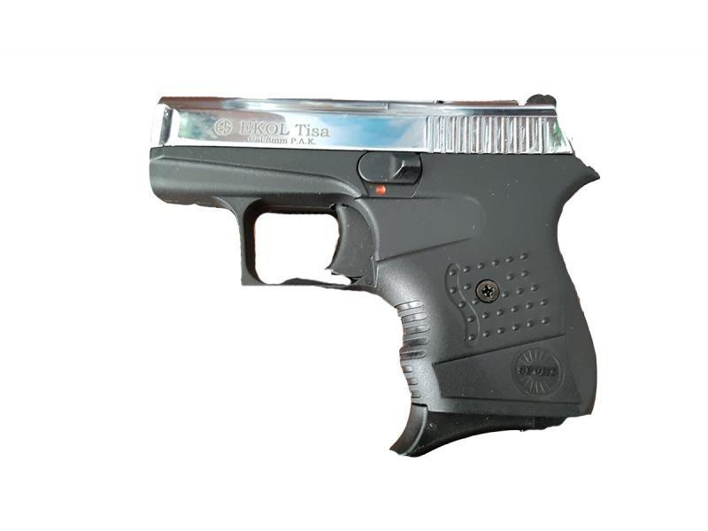 Obranná plynová pištoľ EKOL Tisa Shiny Chrome