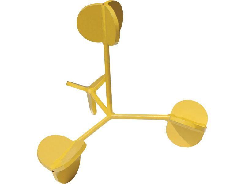Unikajúci terč 4 ramená pre krátke zbrane žltý